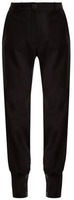 J.W.Anderson Buttoned Cuff High Waisted Trousers - Womens - Black