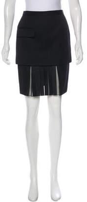 Alexander Wang Wool-Blend Knee-Length Skirt