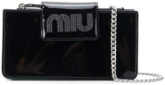 Miu Miu logo cross-body bag
