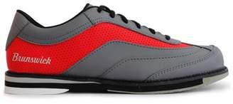 Brunswick Bowling Products Brunswick Mens Rampage Bowling Shoes Left Hand- Grey/Red 10.5 M US