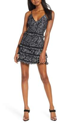 Keepsake the Label Imagine Lace Tiered Minidress