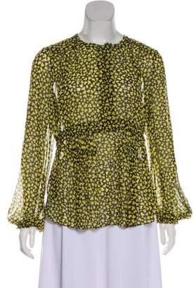 Schumacher Dorothee Silk-Blend Long Sleeve Top w/ Tags