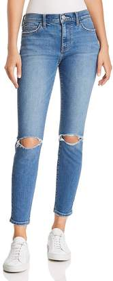 Current/Elliott The Stiletto Distressed Ankle Skinny Jeans in 2 Year Destroy Stretch Indigo