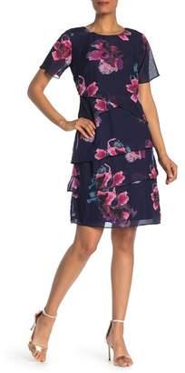 SL Fashions Floral Crew Neck Dress