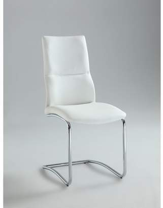 Bella Vita Piper Cantilever Curved Back Side Chair in White Set of 2
