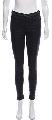 Current/Elliott Low-Rise Skinny Leather Pants