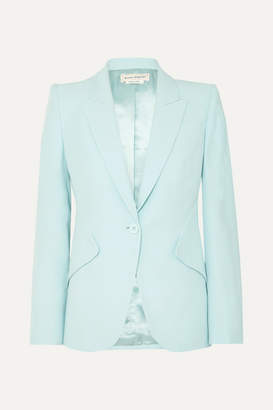 Alexander McQueen Crepe Blazer - Blue
