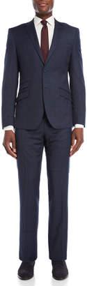 English Laundry Two-Piece Navy Pindot Windowpane Suit