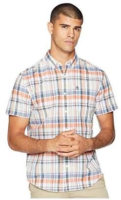Original Penguin Men's Short Sleeve P55 Mini Plaid Shirt