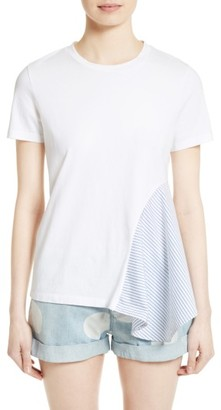 Women's Stella Mccartney Asymmetrical Cotton Tee $295 thestylecure.com