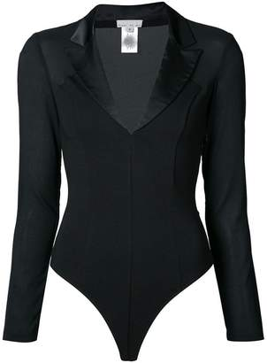 Fleur Du Mal peaked collar Tuxedo bodysuit