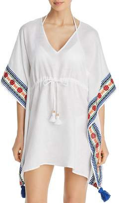 Tory Burch Ravena Embroidered Beach Caftan Swim Cover-Up