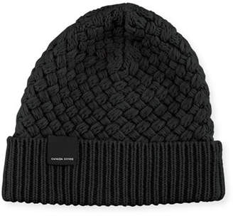 Canada Goose Basket-Stitch Wool Toque Hat
