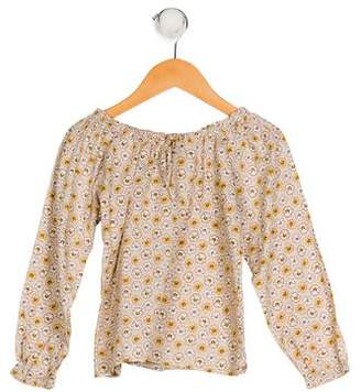 Rachel Riley Girls' Floral Print Top