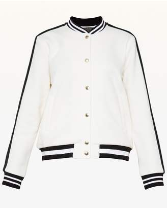 Juicy Couture Luxe Crest Patch Bomber Jacket