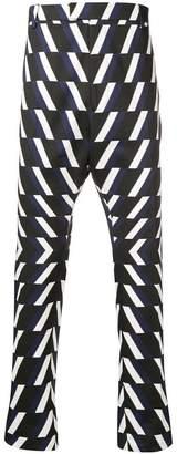 Les Hommes optic print slim-fit trousers