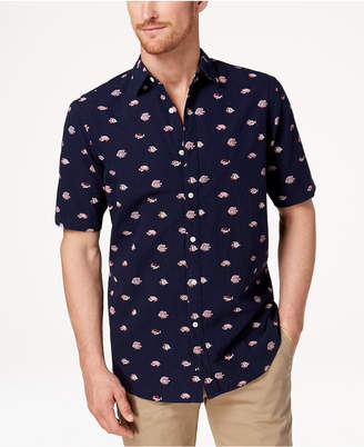 Club Room Men's Fish-Print Shirt, Created for Macy's