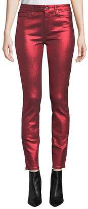 Paige Hoxton Ultra Skinny Metallic Ankle Jeans