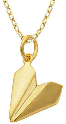 Lord & Taylor Origami Airplane Pendant Necklace $50 thestylecure.com