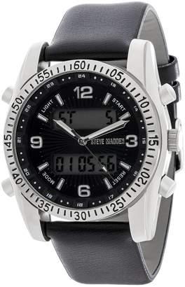 Steve Madden Men's Leather & Alloy 54mm Watch