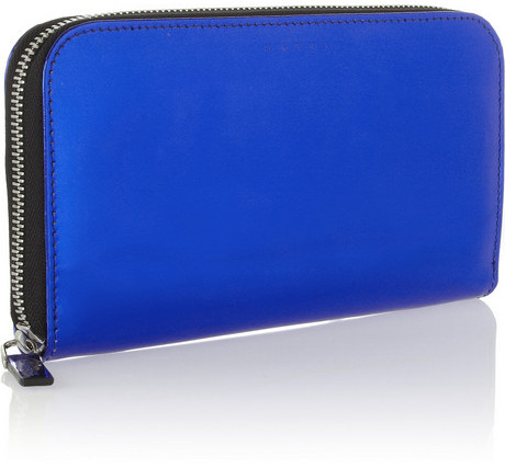 Marni Metallic leather continental wallet