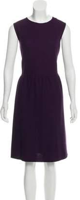 St. John Sleeveless Midi A-Line Dress