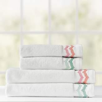 Pottery Barn Teen Embroidered Border Bath Towel, Wash, Warm