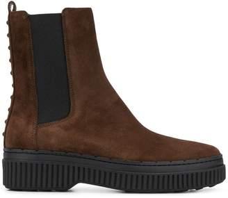 Tod's platform Chelsea boots