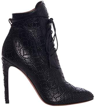 Alaia Studded Lace Up Boot