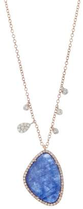 Meira T 14K Rose Gold Diamond & Sodolite Charm Necklace