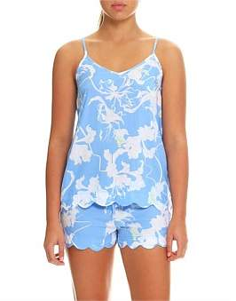 Papinelle Dahlia Blue Cami And Boxer