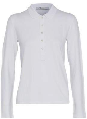 Alexander Wang Stretch-Piqué Polo Shirt