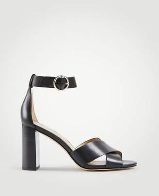 Ann Taylor Liya Leather Block Heel Sandals