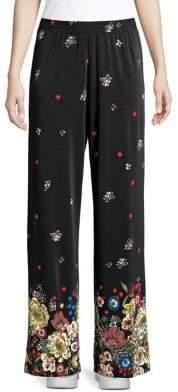 Context Floral Wide-Leg Pants