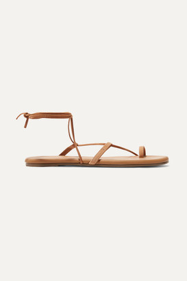 TKEES Jo Suede And Leather Sandals - Tan