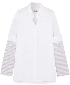 Maison Margiela Paneled Striped Cotton-Poplin Shirt