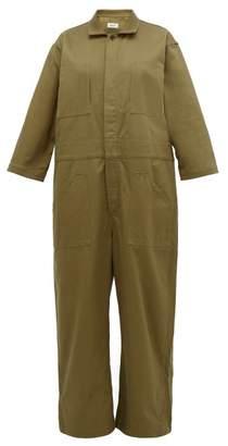 Chimala Oversized Organic Cotton Twill Jumpsuit - Womens - Khaki
