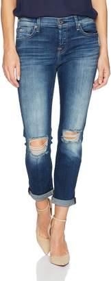7 For All Mankind Women's Josefina Feminine Boyfriend Jean with Knee Holes Pants,
