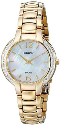 Seiko Women's SUP258 Gold-Tone Stainless Steel Watch $425 thestylecure.com