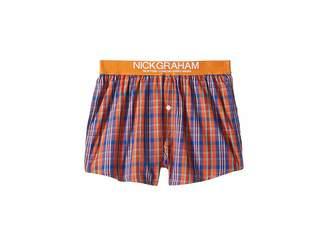 Nick Graham Plaid Check Boxer Shorts Men's Underwear