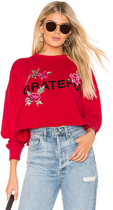 Spiritual Gangster Grateful Oversized Crop Tee