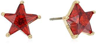 Betsey Johnson Gold and Cubic Zirconia Star Stud Earrings