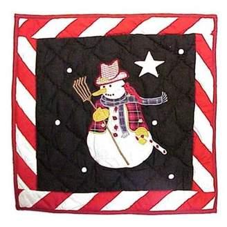 Patch Magic Frosty Snowman Toss Pillow