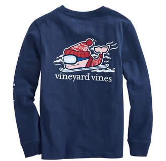 Vineyard Vines Boys Long-Sleeve Downhill Ski Whale Pocket T-Shirt