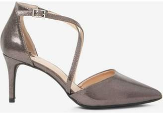 Dorothy Perkins Womens Wide Fit Pewter 'Elsa' Court Shoes