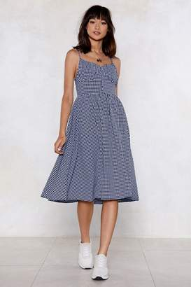 Nasty Gal It's Easy Gingham Dress