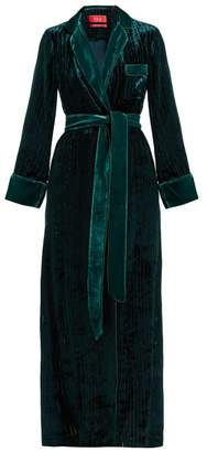 Roda F.R.S – For Restless Sleepers F.r.s For Restless Sleepers Devore Velvet Robe - Womens - Blue