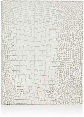 Barneys New York Croc-Embossed Leather-Bound Medium Photo Album