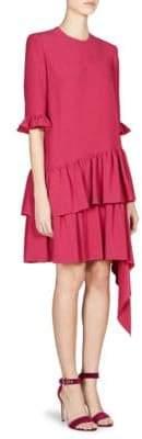 Alexander McQueen Asymmetric Drape Mini Dress