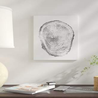 East Urban Home 'Timber Silver III' Graphic Art Print on Canvas